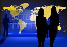Glaskarte der Welt Lizenzfreie Stockfotos