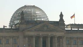 Glaskoepel Berlin Reichstag stock footage