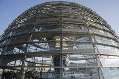 Glaskoepel bij Reichstag-de bouw Stock Foto