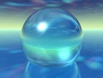 Glaskugel auf surrealer Atmosphäre Lizenzfreie Stockbilder