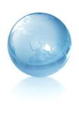 Glaskugel der Welt Lizenzfreies Stockfoto