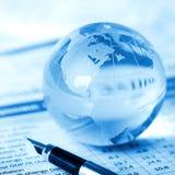 Glaskugelpapiergewicht Lizenzfreies Stockfoto