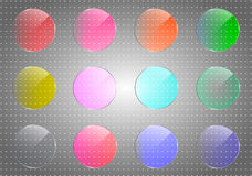 Glaslinsenvektorillustration Lizenzfreie Stockfotos