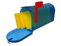 Glasmailbox lizenzfreie abbildung