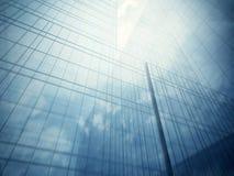 Glasmuren van wolkenkrabber Royalty-vrije Stock Afbeeldingen