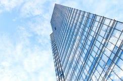 Glasmuur van de bureaubouw stock afbeelding