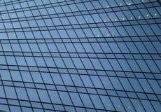 Glasmuur van het commerciële centrumgebouw royalty-vrije stock afbeelding