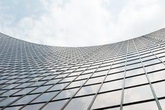 Glasoberfläche der Wolkenkratzeransicht Lizenzfreies Stockfoto