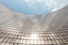 Glasoberfläche der Wolkenkratzeransicht Lizenzfreies Stockbild
