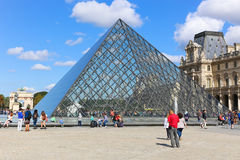 Glaspiramide - Louvre Royalty-vrije Stock Afbeelding