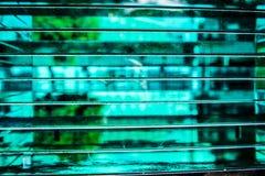 Glasplaat met onduidelijk beeldeffect royalty-vrije stock afbeelding