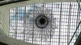 Glasplafond stock afbeelding