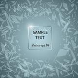 Glasplatte auf dem Hintergrund des abstrakten gebrochenen Glases Illustration mit Raum in der Mitte für Ihren Text Vektor stock abbildung
