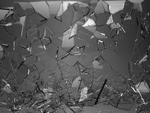 Glasplatten gebrochen oder auf Schwarzem geknackt vektor abbildung