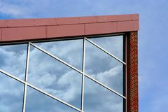 Glasreflexionen lizenzfreie stockfotografie