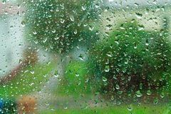 Glasregen Stock Foto's