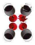 Glass´s del vino Fotografía de archivo libre de regalías