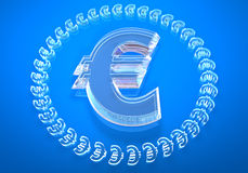 Glass € (euro) Stock Images