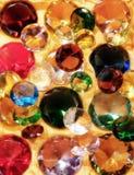 Glass ädelstenar Arkivfoto