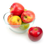 glass äpplen royaltyfri fotografi