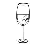 glass översikt för koppdrinkbröllop vektor illustrationer