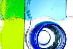 Glass. Creative color background with glass. Alcohol Royalty Free Stock Images