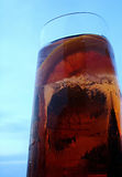 Glass. Aperitive drink on a glass and blue sky Royalty Free Stock Photos