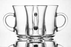 Glass. Details in front of the white background Royalty Free Stock Images