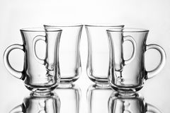 Glass. Details in front of the white background Stock Images