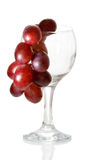Glass. Red wine glass isolated on a white background Royalty Free Stock Images