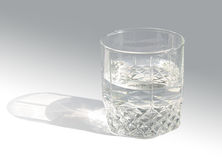 Glass. Beautiful glass with clean water Royalty Free Stock Photo