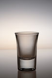 Glass. Close up shot empty glass of whiskey royalty free stock photography
