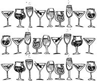 Glass with. A picture of a glass with alcohol drink Royalty Free Illustration