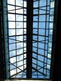 Glass. A ceiling made of glass Royalty Free Stock Photo