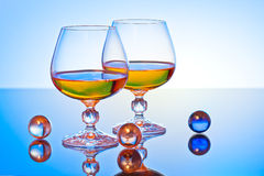 Glass. Background can use the Internet, print advertising and design Royalty Free Stock Images
