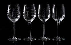 Glass. In the black background Royalty Free Stock Photo