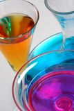 Glass. Vases fill with color liquid Royalty Free Stock Images