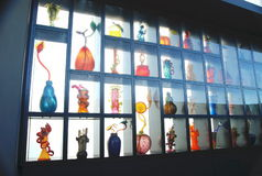 Glass. Wall case of Blown Glass Royalty Free Stock Image