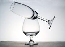 Glass. On the white background stock photos