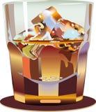 Glass. Glass wisky. A  illustration Stock Photos