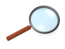 Glass. Magnifying glass over white background Royalty Free Stock Image