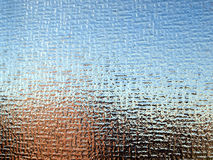 Glass. Decorated architectural glass material texture background pattern stock photo
