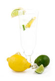 Glass of 7up with lemon and lime Stock Photography