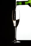 Glass. Filling a glass with a drink royalty free stock images