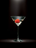 Glass. Cocktail of dry martini with a strawberry Stock Photo
