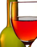 Glass. With pouring red wine Stock Photo