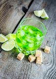 Glass of absinthe Stock Images