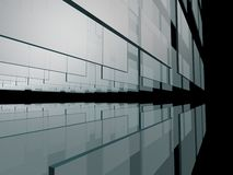 Glass Abstract Background. Abstract glass in black sky Royalty Free Stock Photo