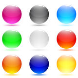 Glass abstract shiny buttons. Set web buttons Stock Images