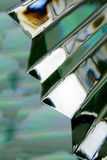 Glass Abstraction. An angled piece of cut glass shaped like a stairwell royalty free stock image